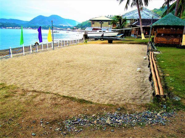 Beach volleyball at Anilao Beach Club
