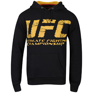 UFC Men's Wrap Hoody - Black/Yellow