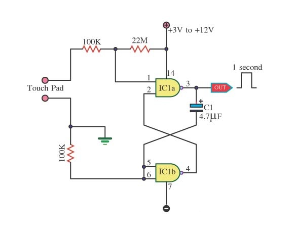 Touch Switch With Digital Output Circuit Diagram