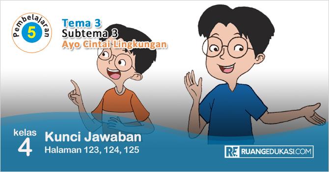 Kunci Jawaban Tema 3 Kelas 4 Halaman 123 124 125 Buku Siswa Tematik Revisi Ruang Edukasi