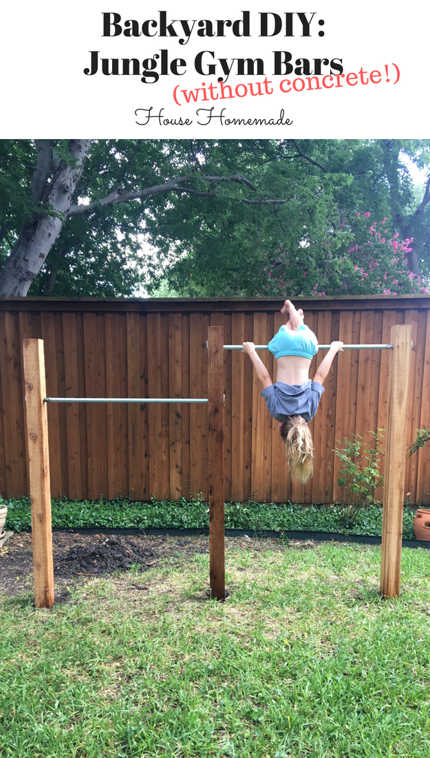 Backyard DIY: Jungle Gym Bars (without concrete!) | House Homemade