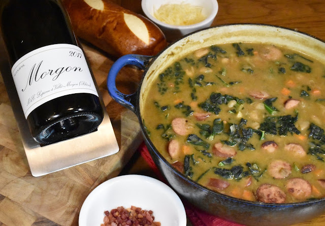 Marcel Lapierre Morgon with a Hearty White Bean Stew.