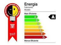 Selo Procel, que mostra o nível de eficiência energética de um produto numa escala de A a G
