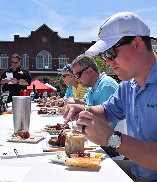 Food judging at the 2017 Ooltewah BBQ Brawl