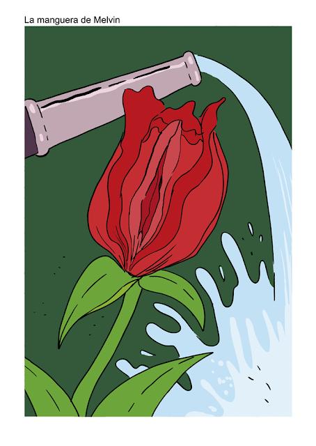 shoo bop Melvin illustration drawing comic