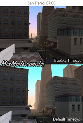 gta sa true skies timecycle