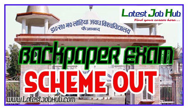 backpaper rmlau, exam scheme rmlau, exam scheme jawahar, back paper time table 2018 october, back paper time table, rmlau faizabad, jawahar back paper, bsc backpaper ram manohar lohia