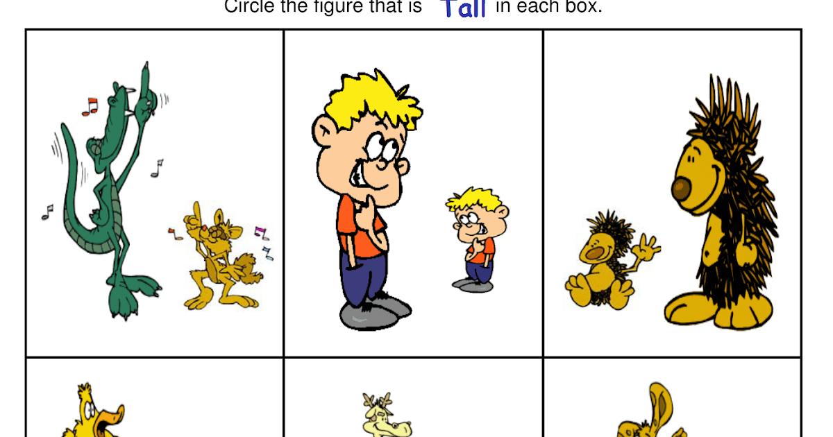 Kindergarten Worksheets Big And Small Worksheets