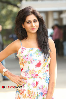 Actress Shamili Stills in Floral Short Dress at Sree Ramaraksha Song Launch 0046