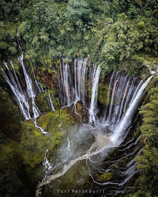 Air terjun Tumpak Sewu Serpihan Surga Kota Lumajang
