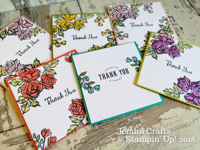 Petal Palette stamp set for quick and easy card making
