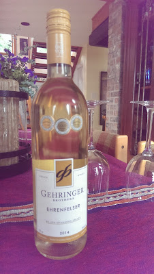 A bottle of Gehringer Brothers Ehrenfelser