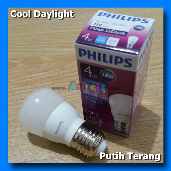 lampu led philips 4 watt cool daylight