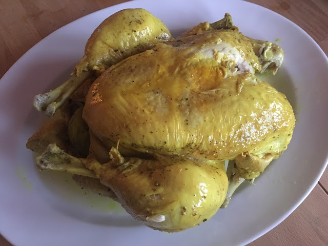 Instant Pot Lemony Whole Chicken by Feisty Tapas