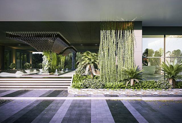 Cảnh quan xanh dự án Risemount Đà Nẵng
