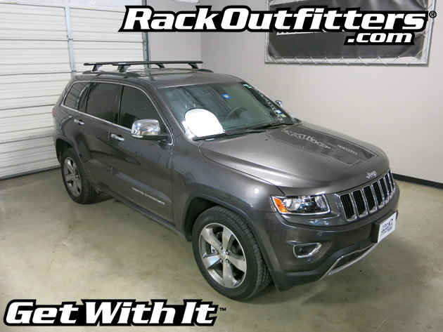 Jeep Grand Cherokee Rhino-Rack Vortex/RLCP BLACK Aero Base ...