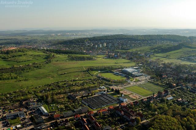 Lot balonem nad Wałbrzychem