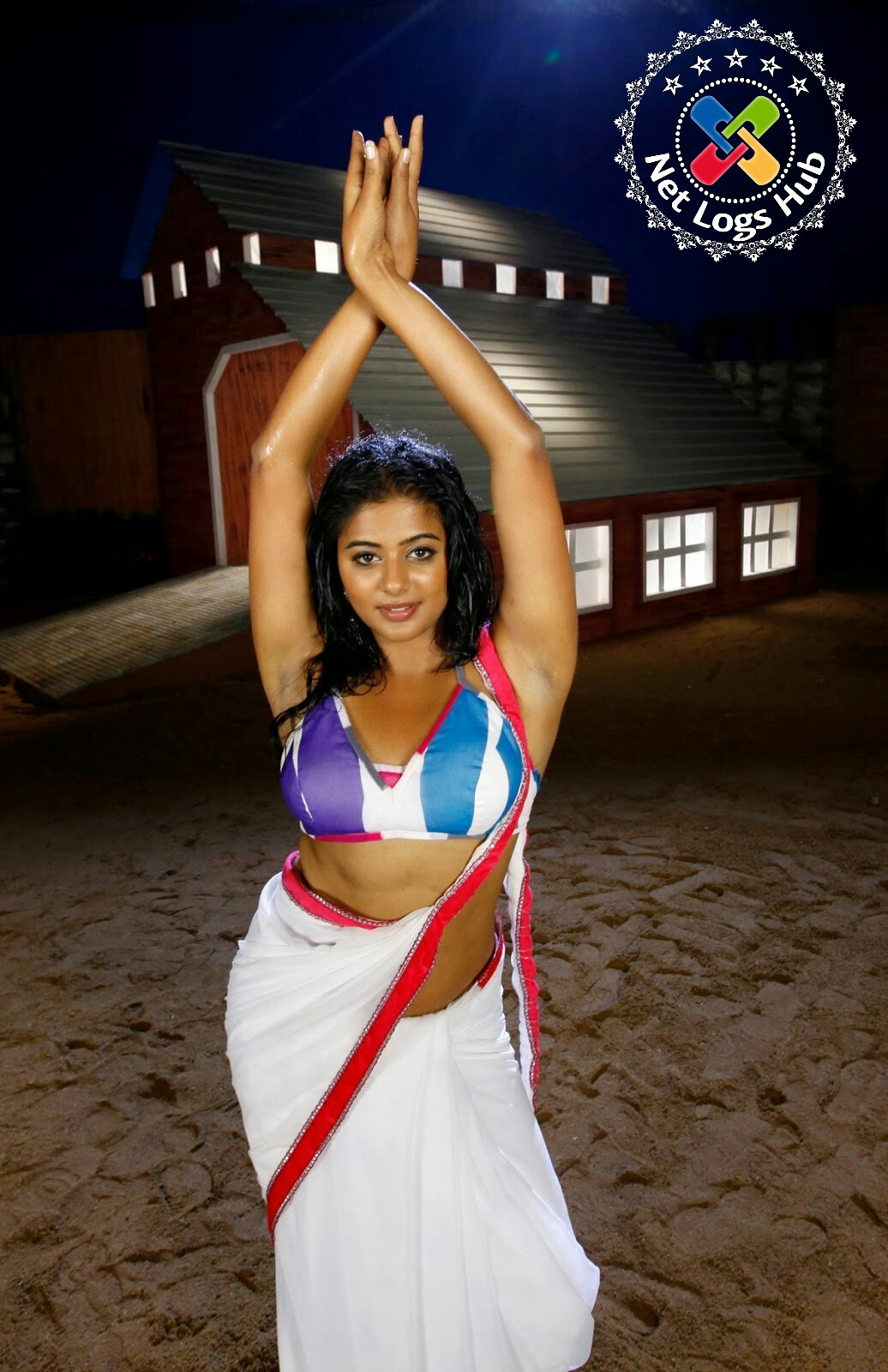South Indian Heroine Priyamani Hot Armpit Visible on Making a Song for Telugu Movie - NetLogsHub