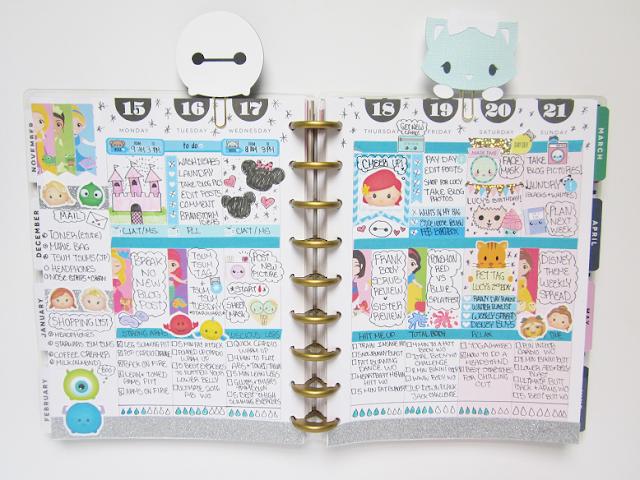 Disney Theme ♥ Weekly Planner Spread