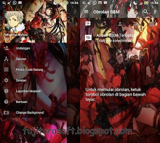 "Download BBM Mod Tema Anime Terbaru ""Kurumi Tokisaki Date Live"" Clone/Unclone"