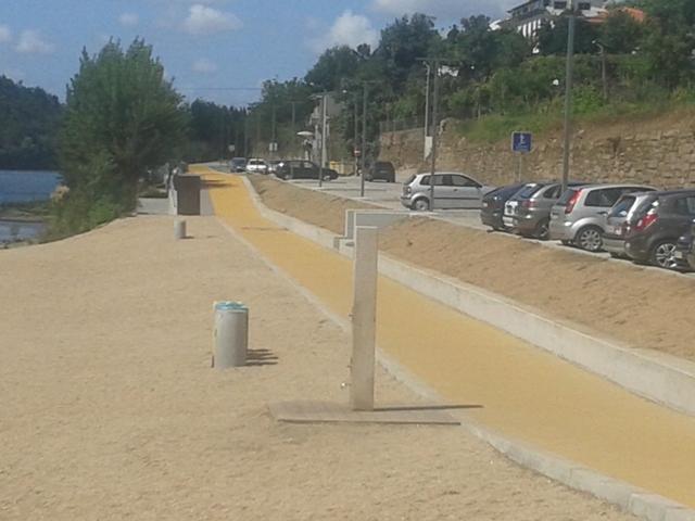 Zona Pedonal junto ao Areia