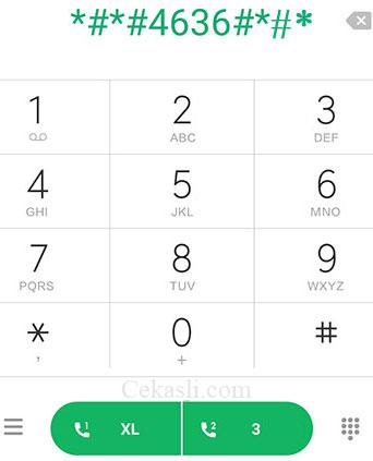 input kode rahasia Xiaomi