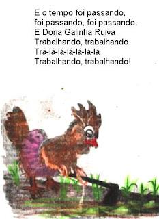Livro galinha ruiva para imprimir