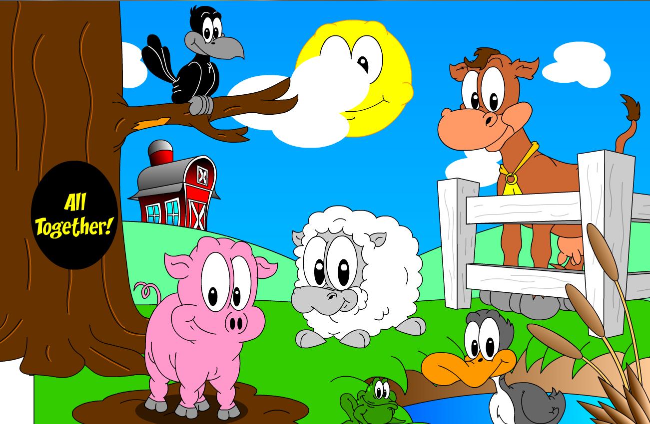 Animales En Una Granja