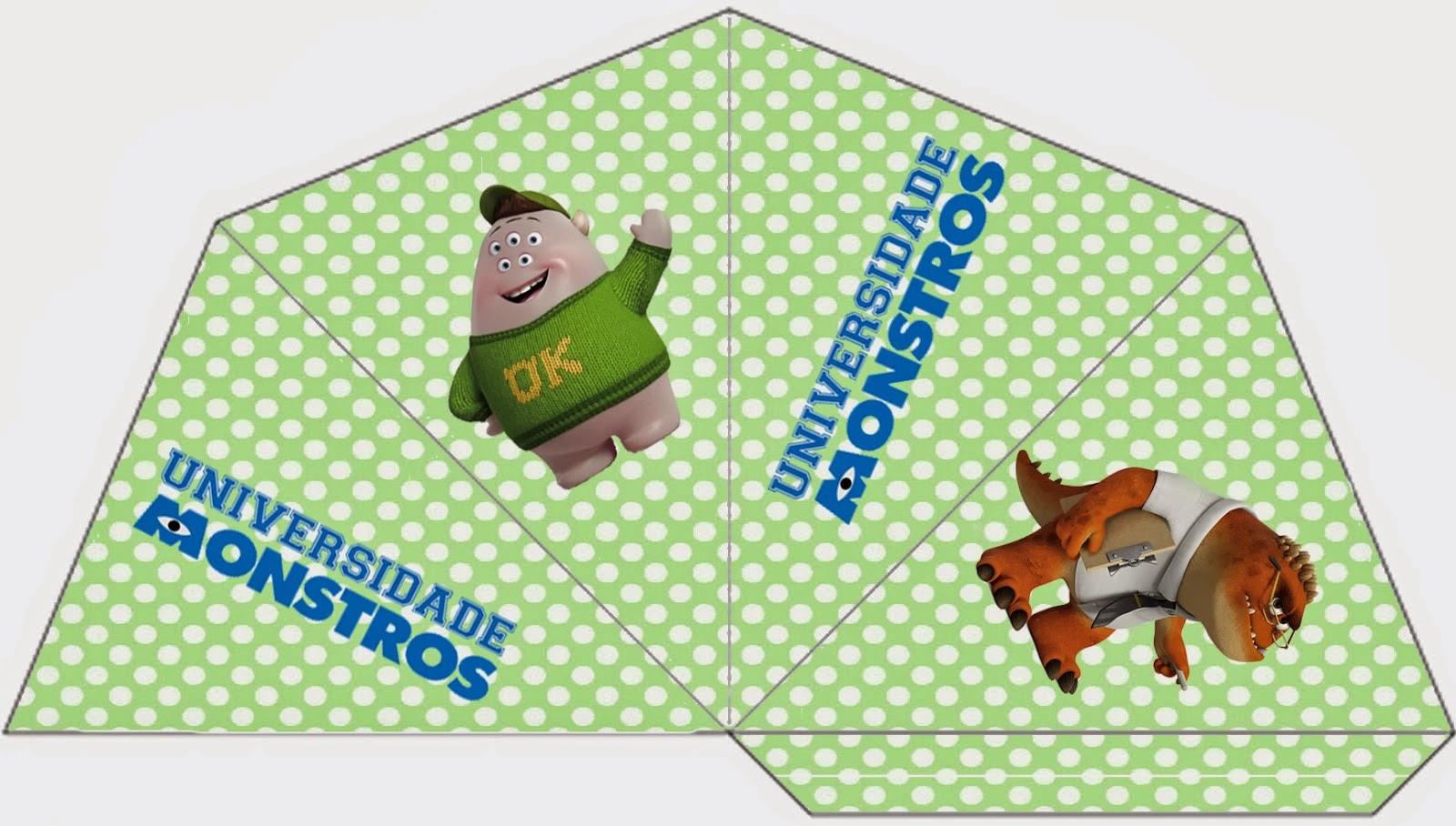 Universidad de Monstruos: Divertidos Imprimibles Gratis para Fiestas