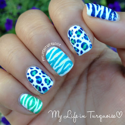 Zebra-and-Leopard-Print-Nail-Art