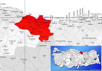 İkizce ilçesinin nerede olduğunu gösteren harita.