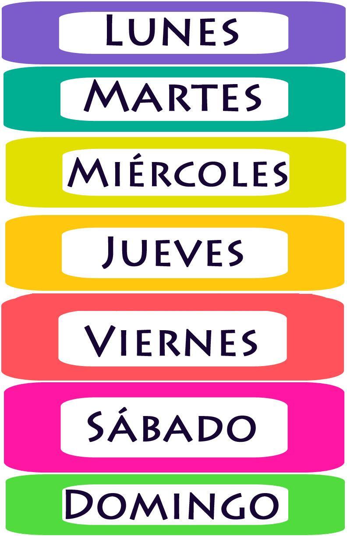 Blog di spagnolo los d as de la semana 1a for Cocina 1 dia para toda la semana