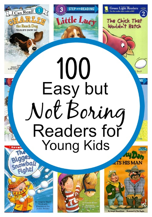 100 Easy but NOT Boring Readers for Young Kids-separated by reading level