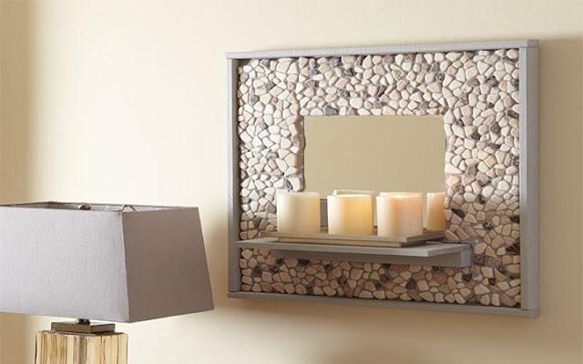 Diy Mosaic Tile Bathroom Mirror: The Yellow Cape Cod: DIY Mosaic Tile Mirror Shelf