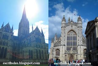 catedral de Salisbury, abadía y termas romanas de Bath