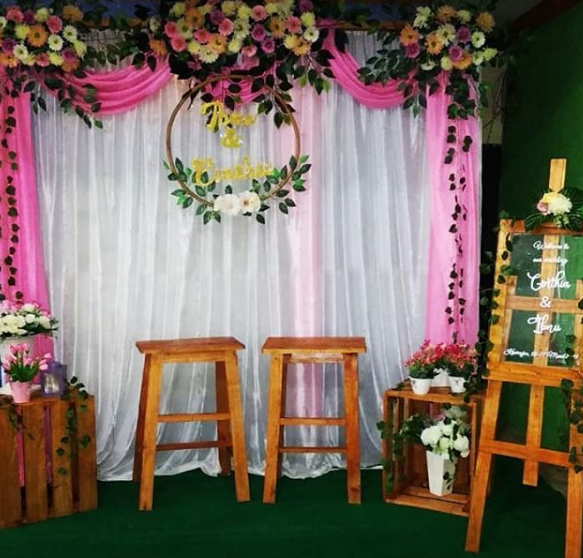Model Backdrop Photobooth Pernikahan Unik