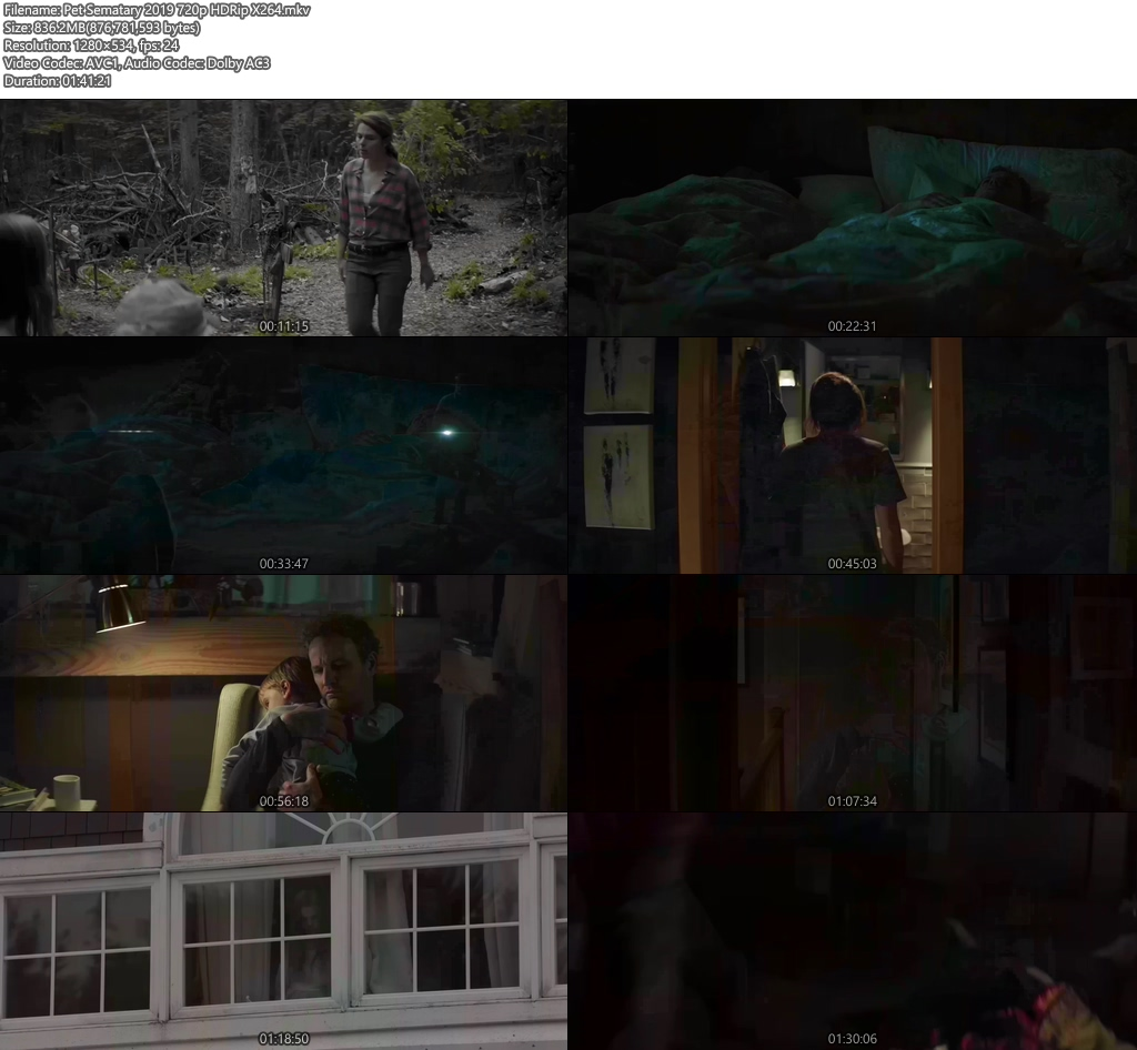 Pet Sematary 2019 720p HDRip X264 | 480p 300MB | 100MB HEVC Screenshot