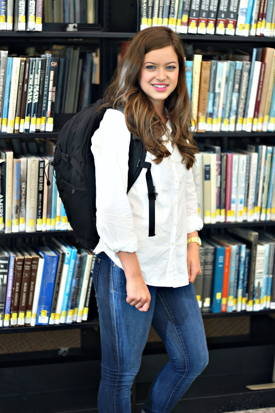 preppy and classic comfortable back to school outfit