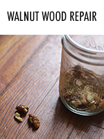 Did you know you can fix dings & scratches in hardwood with walnuts?