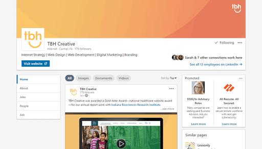 TBH LinkedIn Profile