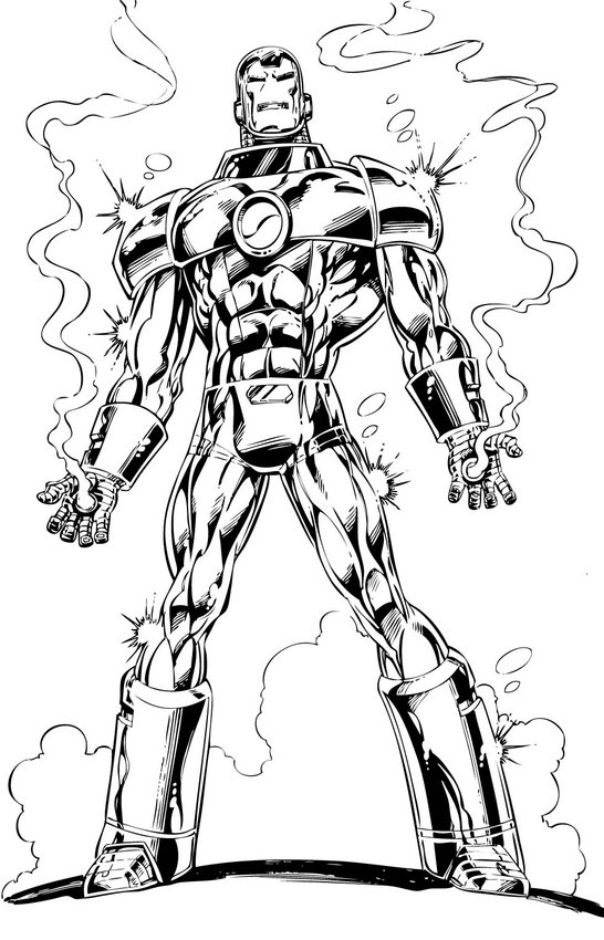 Iron Man The Avengers - Best Coloring pages   Minister ...