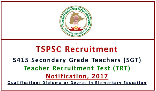 TSPSC Recruitment – 5415 Secondary Grade Teacher Vacancy
