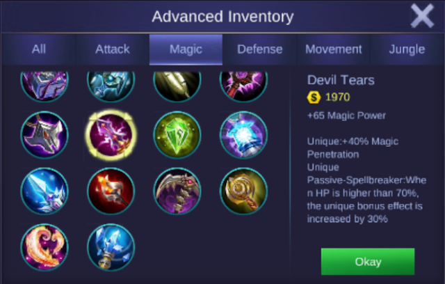 Aurora Best Magic Damage Build item and Ability
