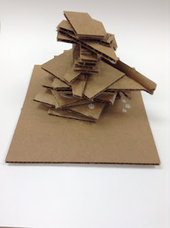 cardboard sculpture made by special needs student