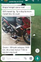 Gambar testimoni dari whatsapp