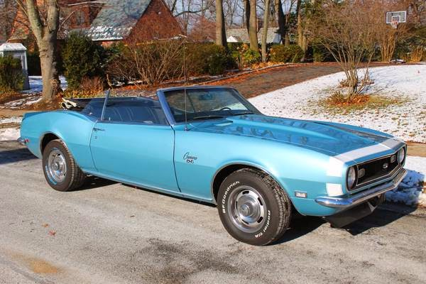 1968 chevrolet camaro convertible for sale buy american muscle car. Black Bedroom Furniture Sets. Home Design Ideas