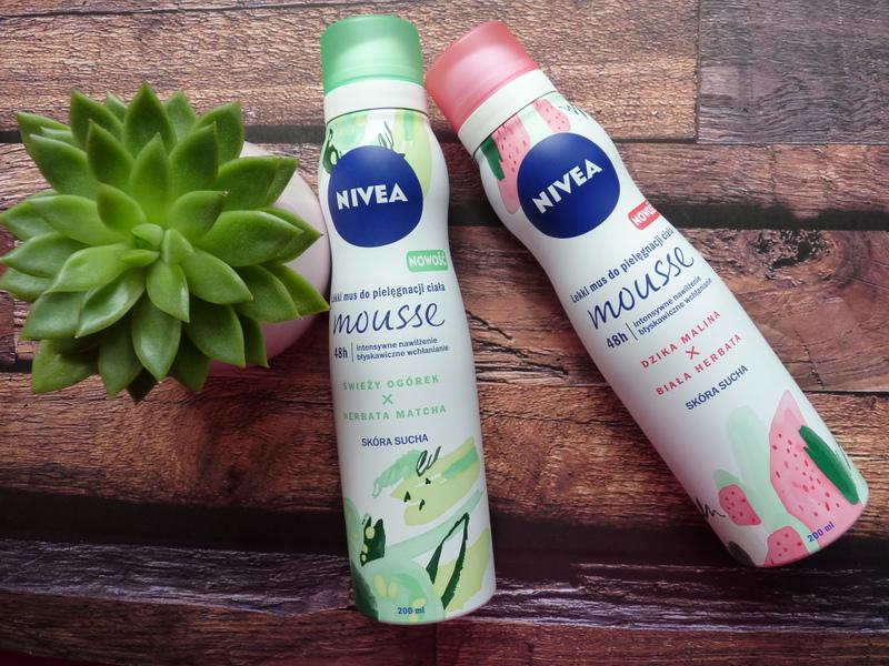 NIVEA lekki mus do pielęgnacji ciała Dzika malina&Biała herbata i Świeży ogórek&Herbata matcha