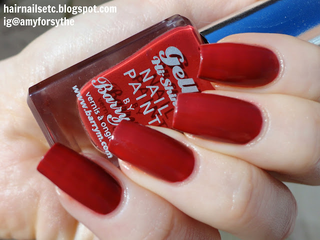 Barry M Gelly Nail Paint for Autumn Winter 2014 in Chilli - swatches and review