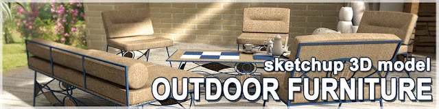 3d sketchup models outdoor furniture