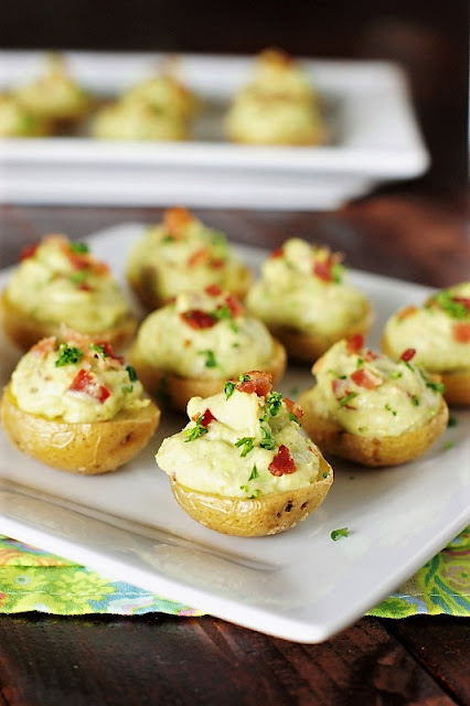Creamy Bacon Guacamole Potato Bites Photo